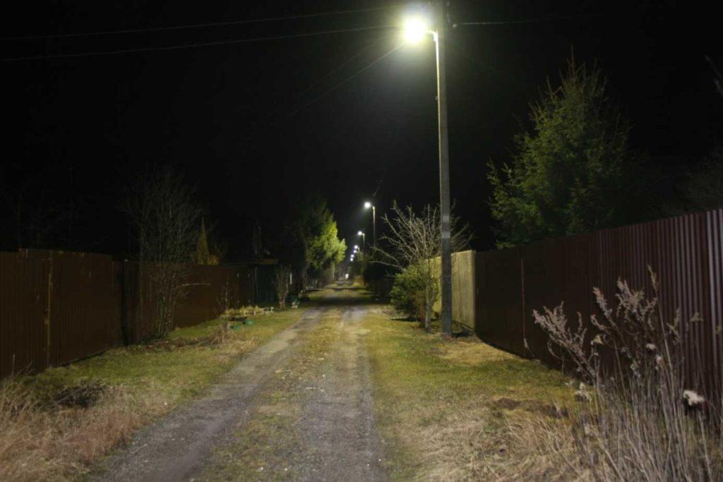 Экономичное, комфортное и безопасное освещение СНТ «Озерки» в Подмосковье